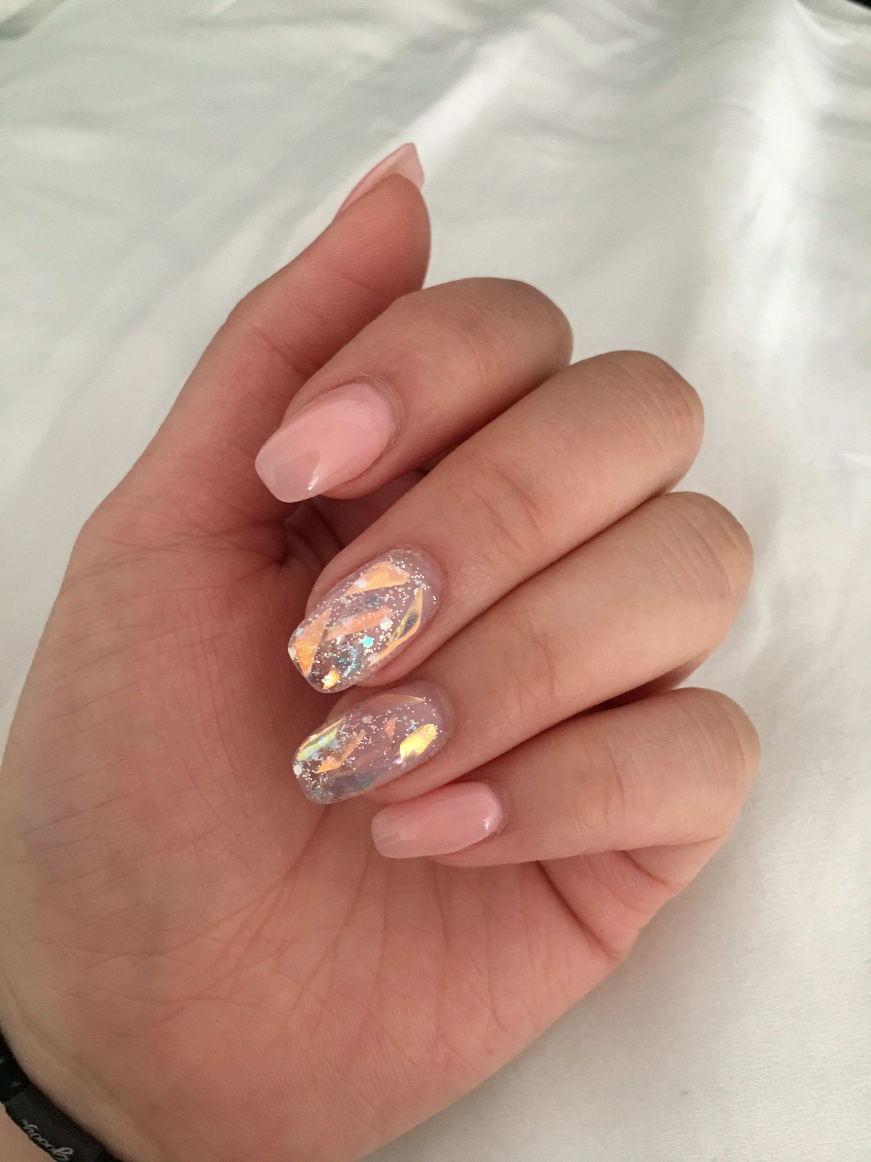 Glass nails | Wonder nails, Mylar nails, Pink acrylic nails