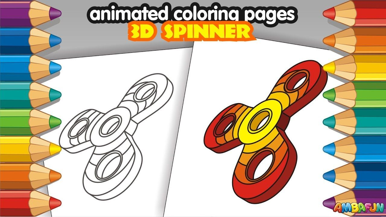 Animated Coloring Pages Coloring Book How To Draw Rainbow 3d Fidget Spi Play Doh For Kids Drawing For Kids Coloring Books