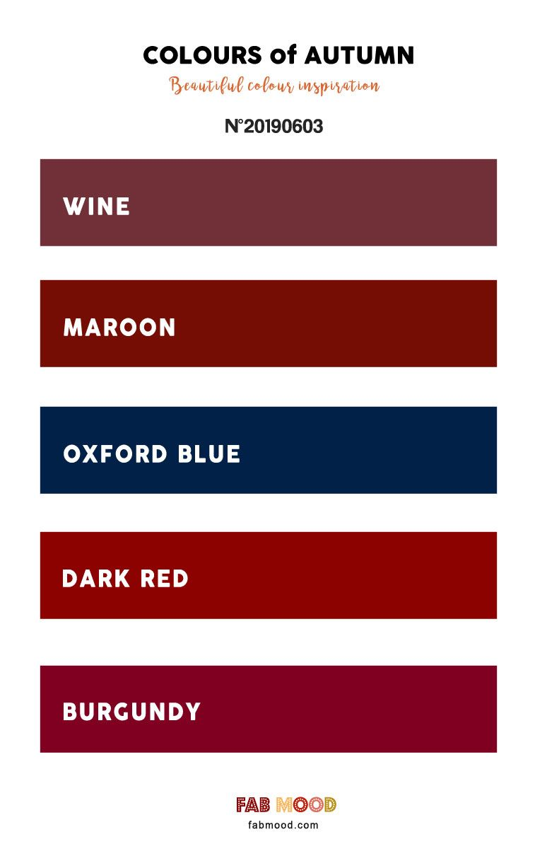 Wine Maroon Oxford Blue Dark Red Burgundy Deep Autumn