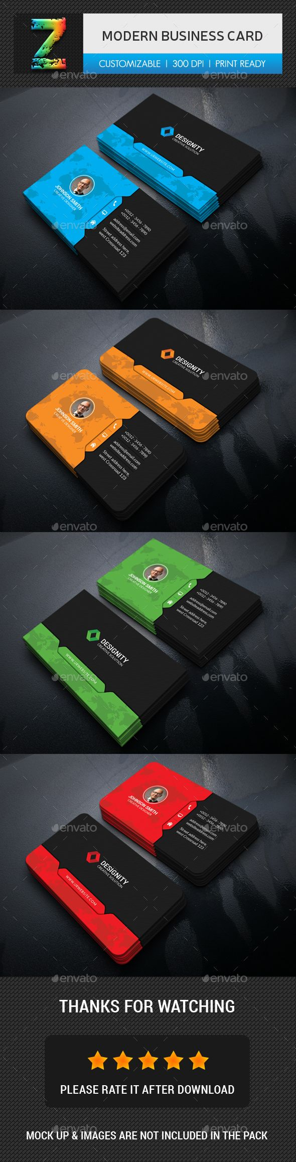 Modern Business Card - Business Cards Print Templates | Design ...