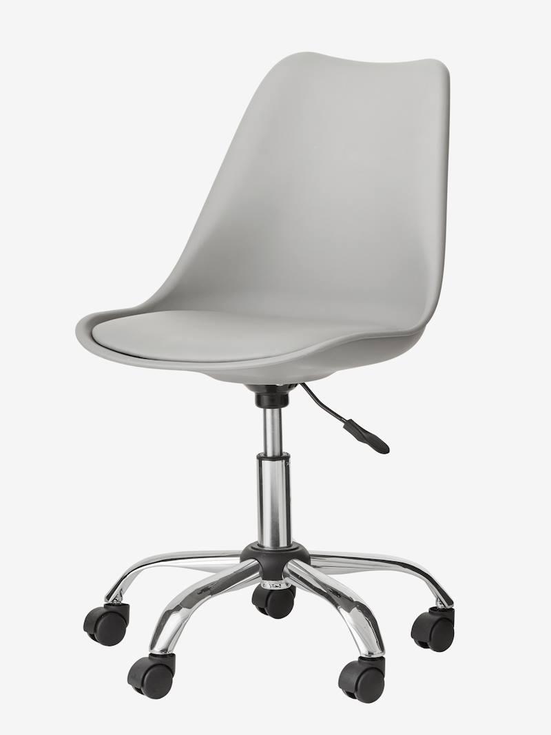 Chaise De Bureau Primaire A Roulettes Gris Rose 1 Chaise Bureau Chambre Ado Fille Grise Mobilier De Salon