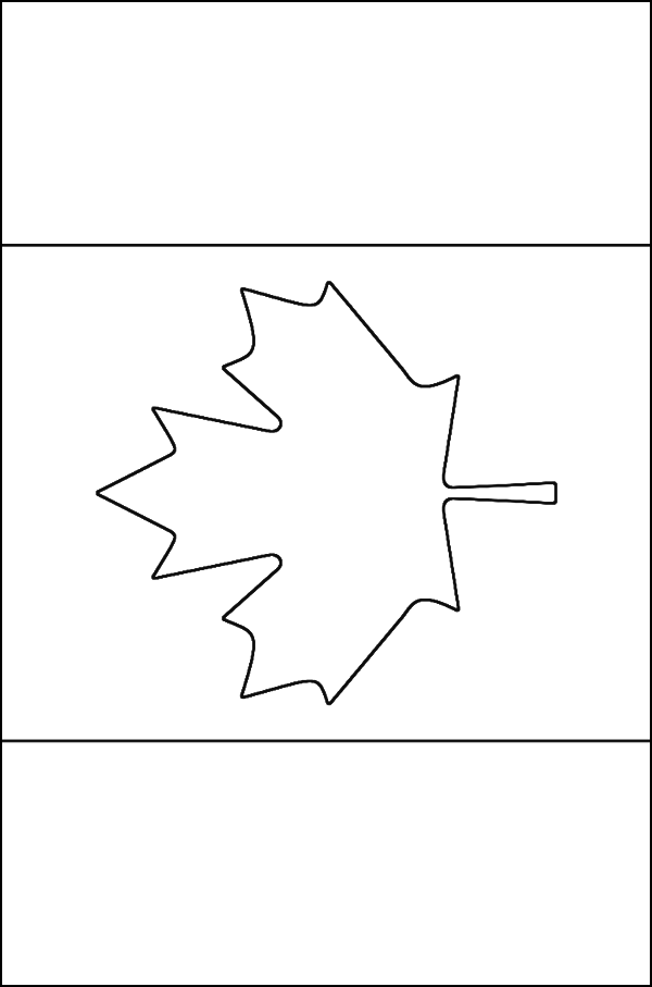 Canadian Flag Coloring Page Free Printable Coloring Pages Flag