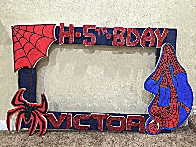 Spiderman picture frame | Ideas para fiestas | Pinterest | Spiderman ...