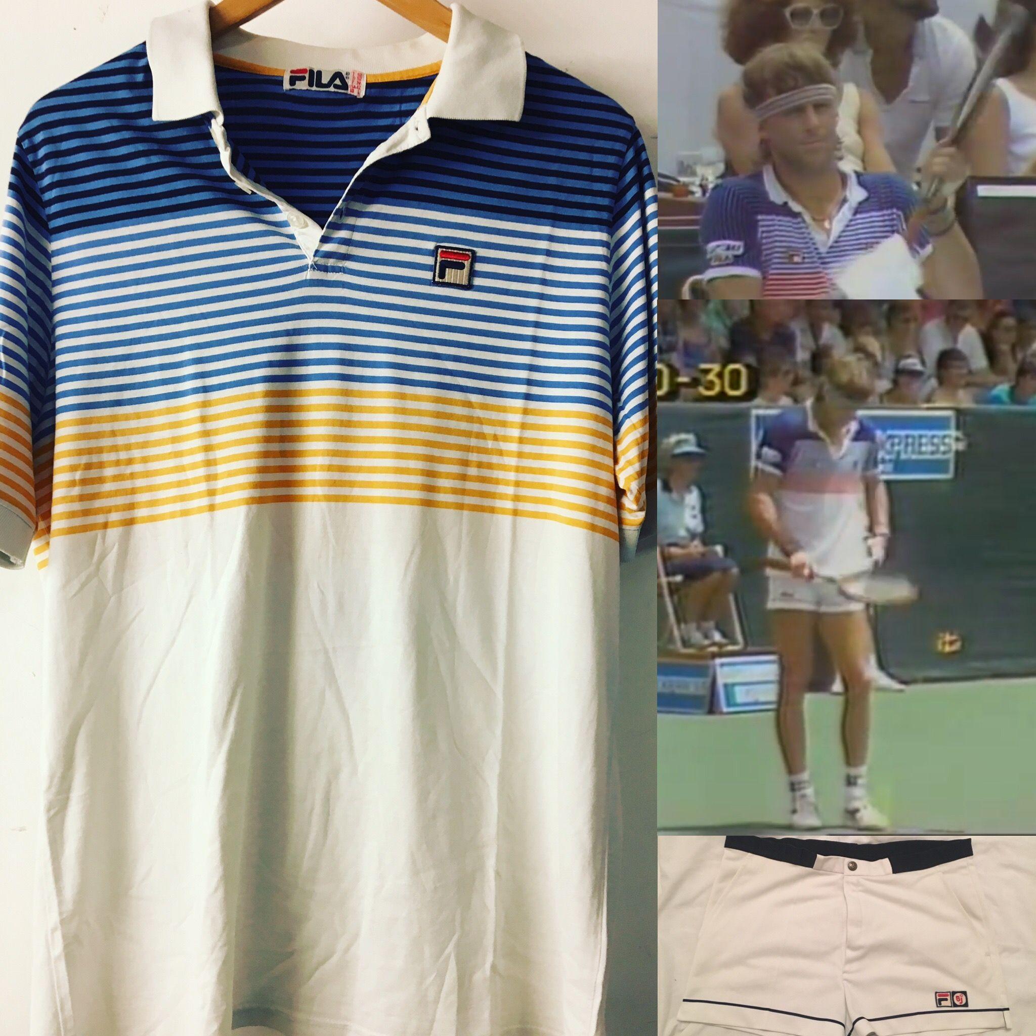 a5d1fa604d0e Fila BJ vintage tennis polo Pique 1980 s