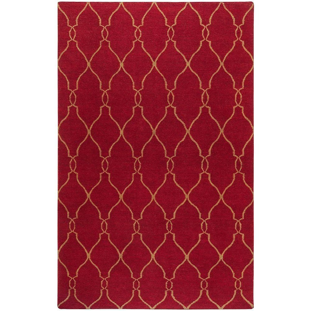 Agios Burgundy (Red) 9 ft. x 13 ft. Indoor Area Rug