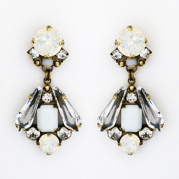 Small deco chandelier earrings member board bride bridal party small deco chandelier earrings aloadofball Image collections