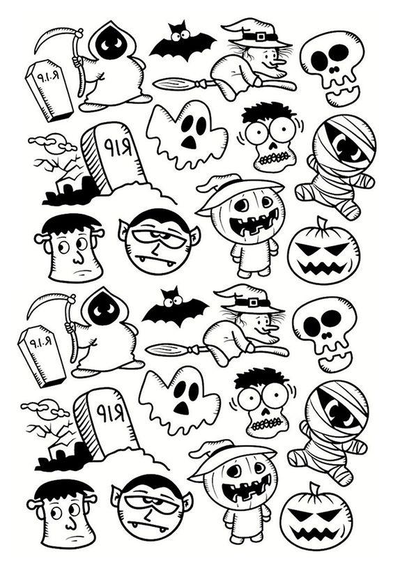 Dibujos De Halloween Preparate Para La Mejor Fiesta Dibujos De Halloween Faciles Halloween Para Colorear Dibujos De Halloween