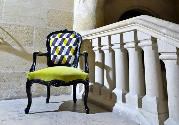 Louis XV Cabriolet chair. Graphic design. Bespoke furniture. Green ...