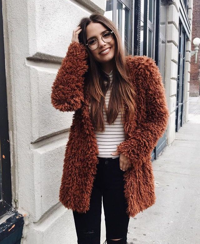 20 Style Tips On How To Wear Faux Fur Coat This Winter ...