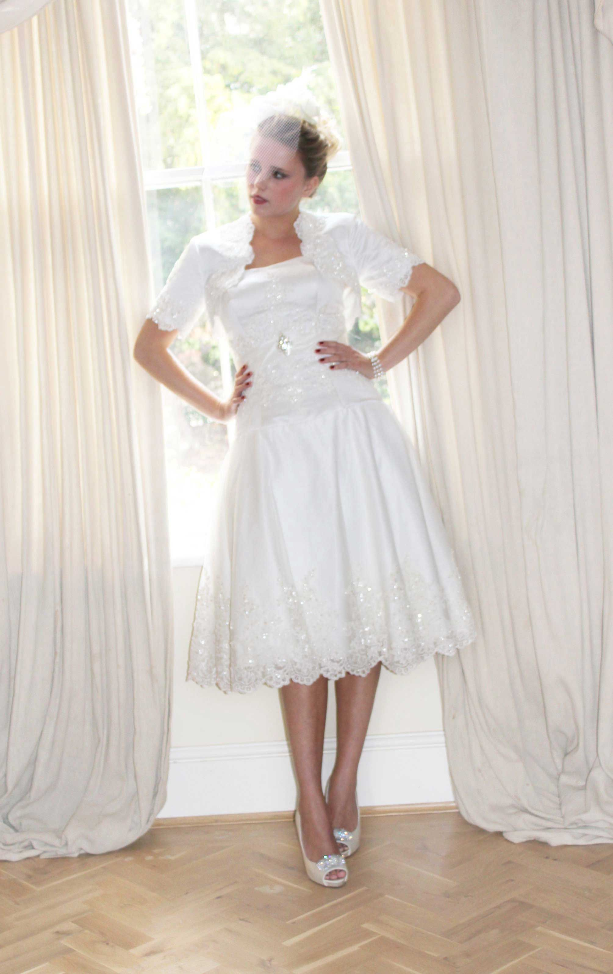 Design your own wedding dress near me  Style  Short lace For more information please feel free to