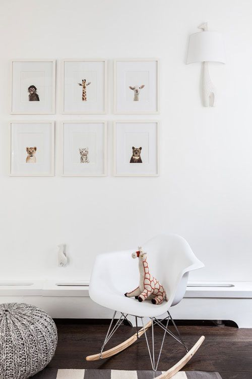 baby animals on wall configuration