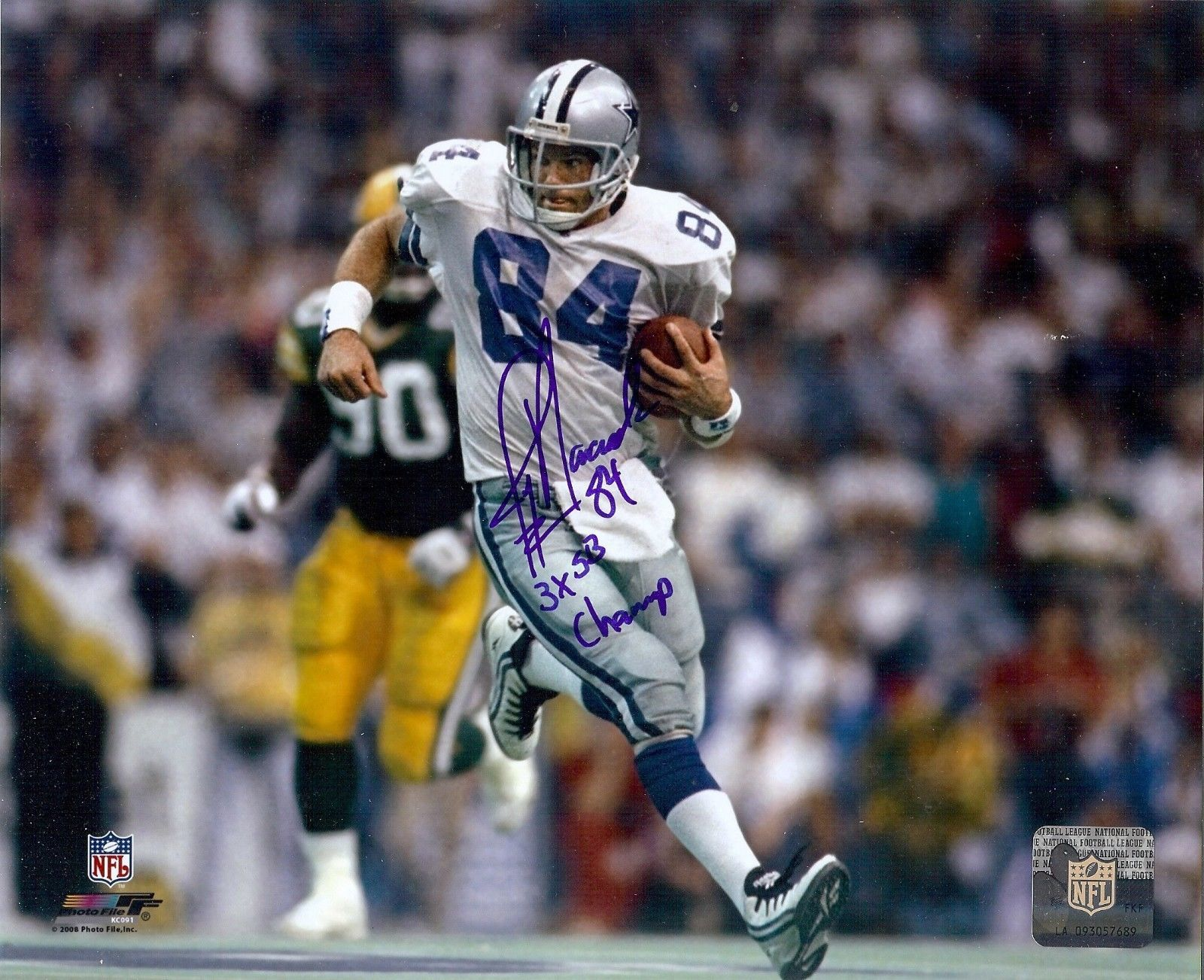 Dallas Cowboys Star Jay Novacek autographed action photo vs GB 3X SB Champ added (With images ...