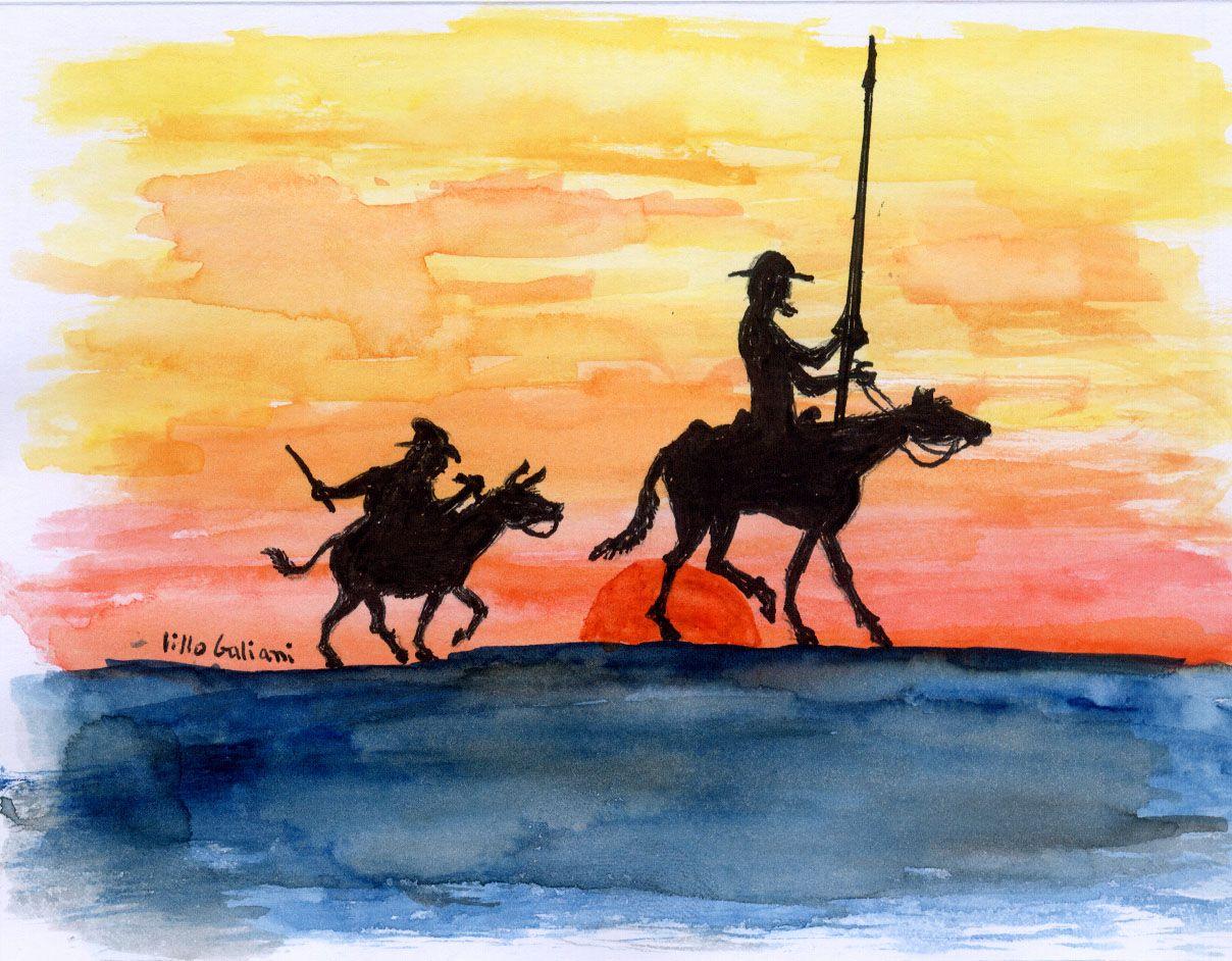El Matrimonio Y El Quijote Don Quijote Dibujo Quijote De La