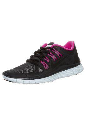 reputable site 68f8e 8e7ab Nike Performance NIKE FREE 5.0 - Laufschuh Leichtigkeit - dark charcoal   black  pink - Zalando.de