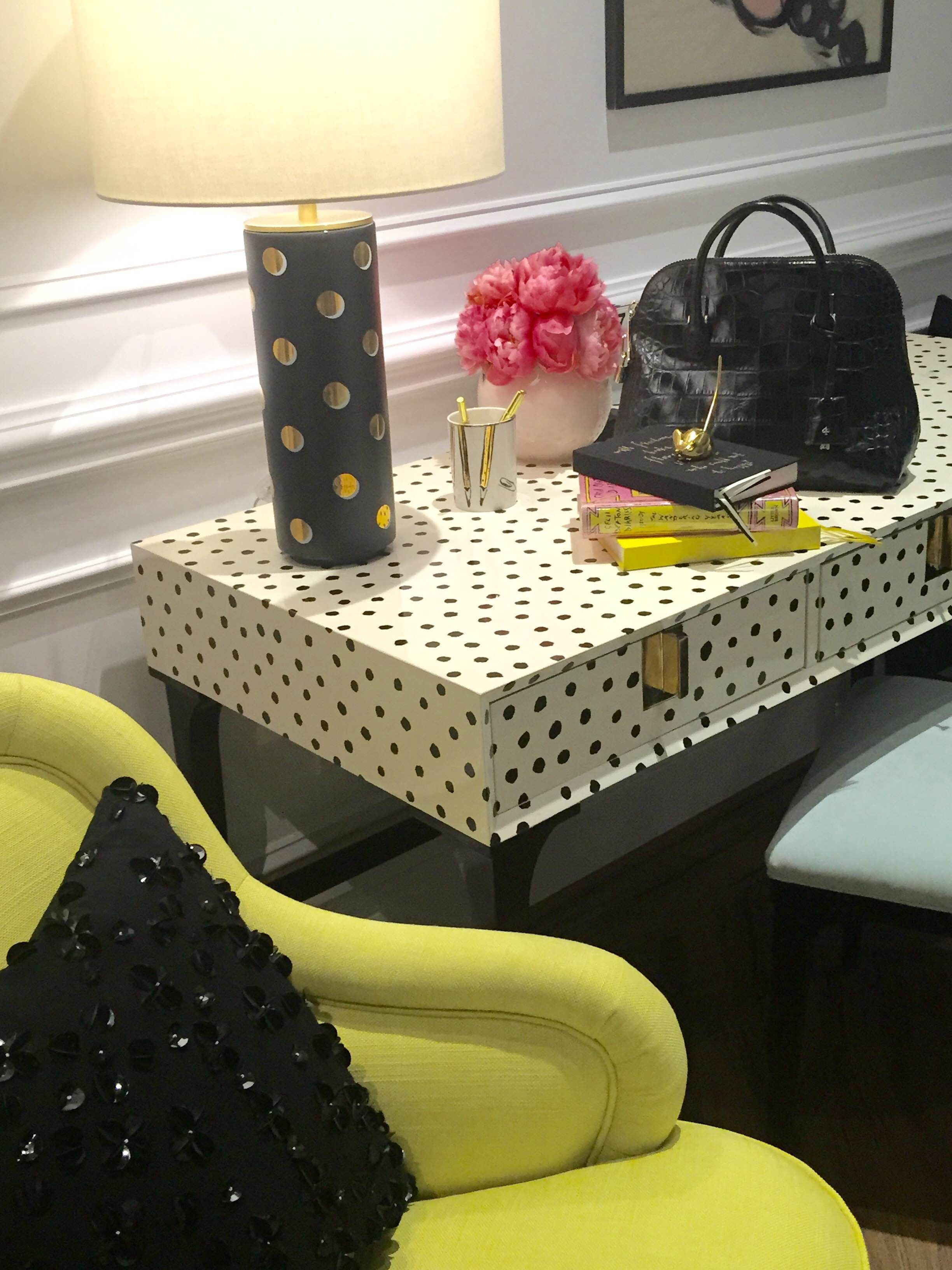 Trend: A Bit of Whimsy. The Downing Desk by Kate Spade NY for EJ Victor. 115 S. Lindsay Street. #HPMKT #hpmktSS #hpmktcoveredinkryptonhome