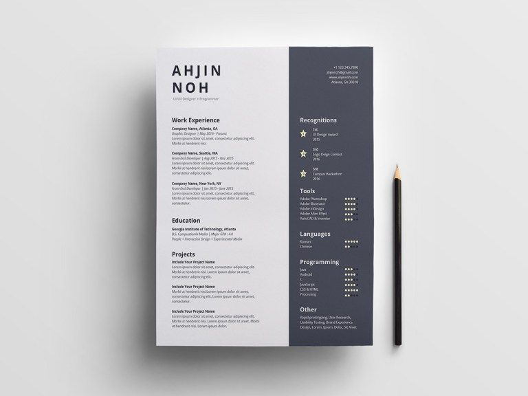 Pin On Free Resume Templates Indesign resume template free
