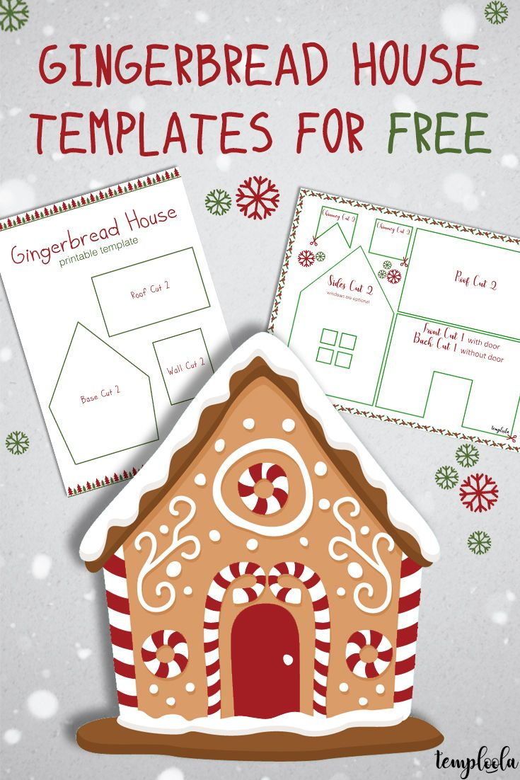 Gingerbread House Templates For Free Temploola Gingerbread House Template Gingerbread House Patterns Gingerbread House Template Printable