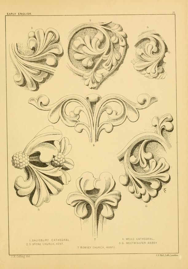 Examples Of English Medieval Foliage And Colour Decorative Painting Art Draw On Photos