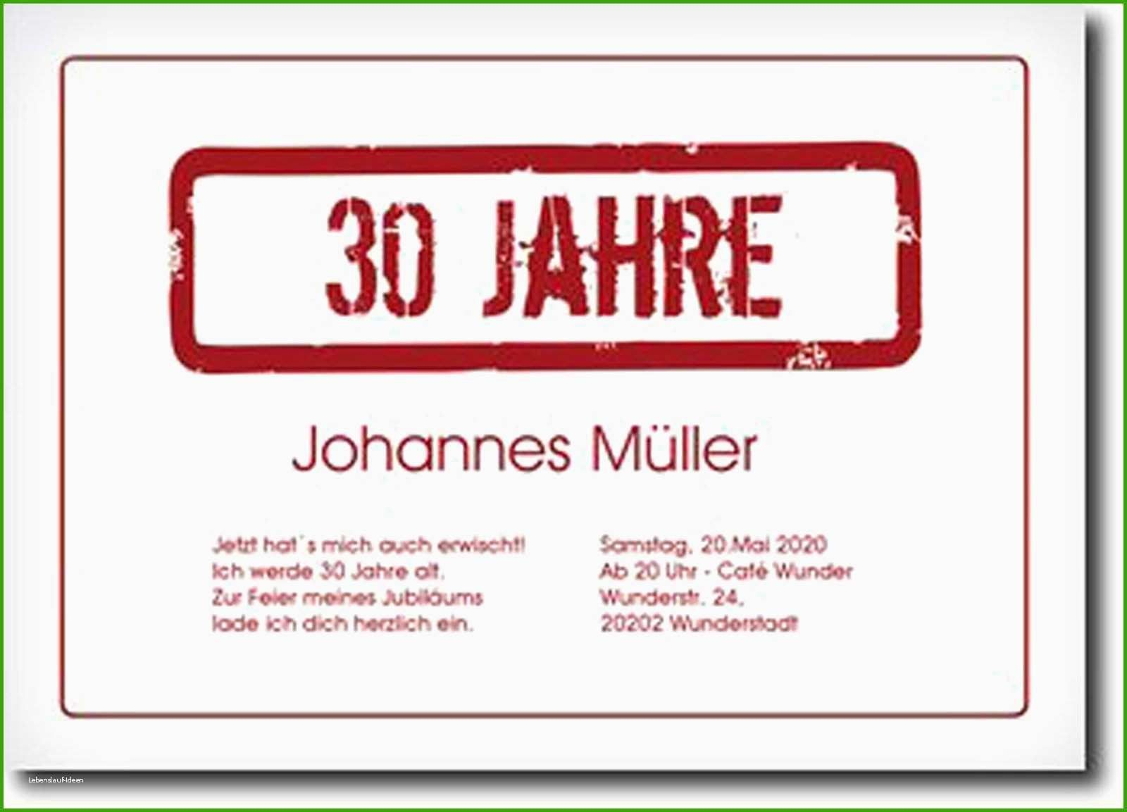 Einladung Zum 30 Geburtstag