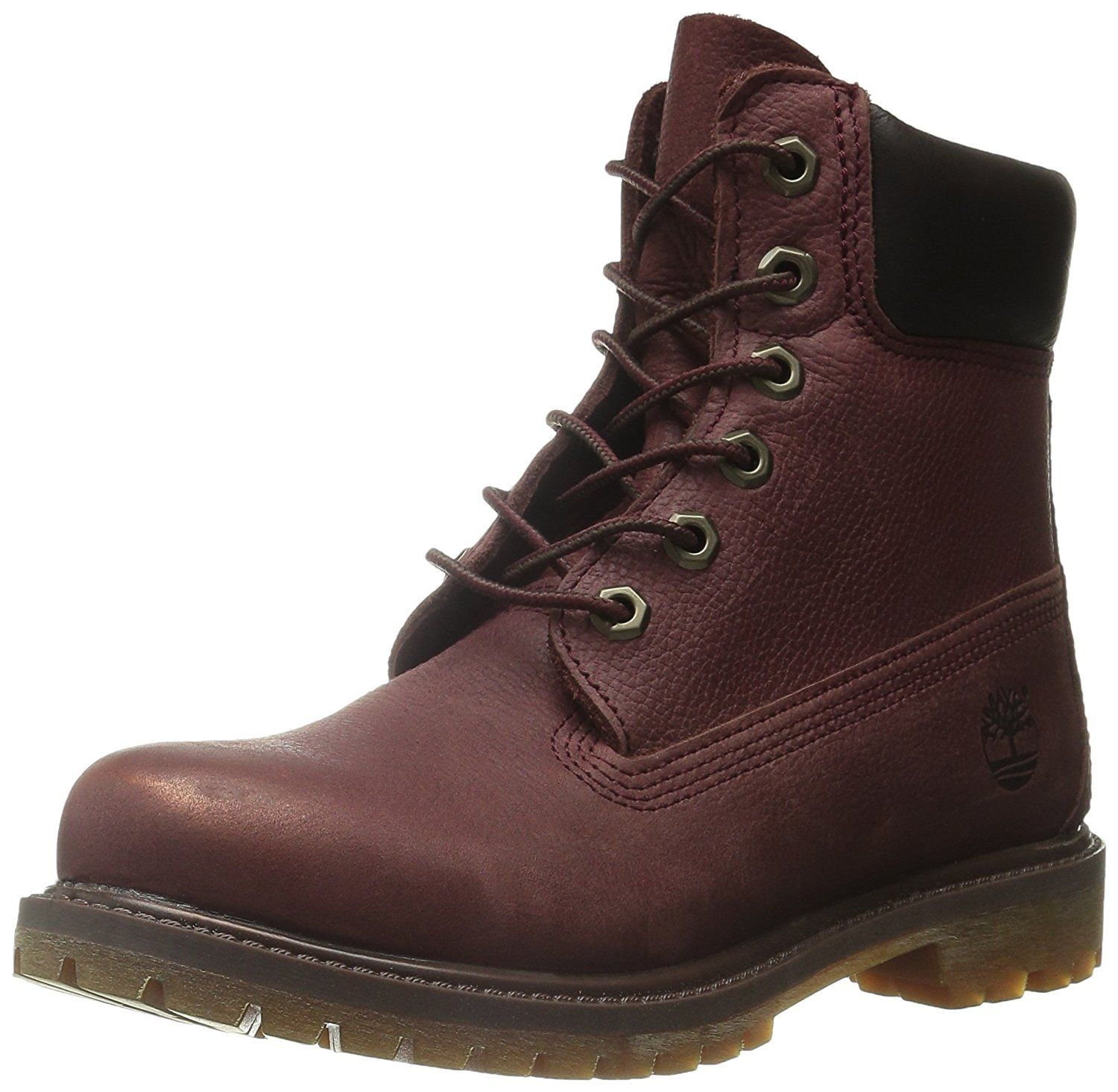 Timberland Women's 6 Inch Premium Boot, Port Rugged W Metallic Finish, 11 M  US ** See this great product.