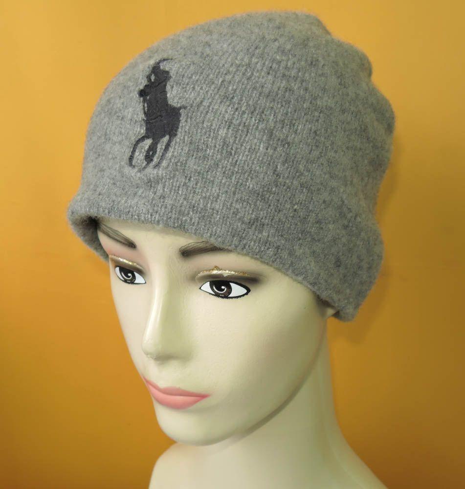 b76d59e2d Polo Ralph Lauren Beanie Ski Hat Vintage Signature Big Pony Designer ...