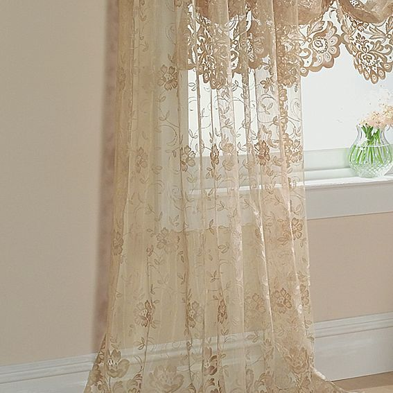 Jcp Home Shari Lace Rod Pocket Panel Jcpenney Lace Curtains
