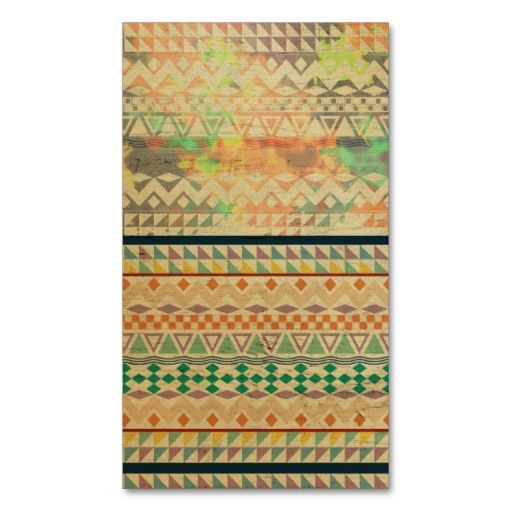 Andes Abstract Aztec Pattern Fashion watercolors Business Card