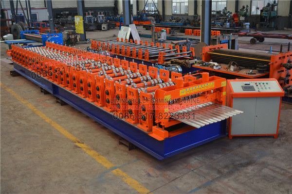 Power Bull Type Color Steel Sheet Roll Forming Machine S Cutter Portion Is Driven By A Hydraulic C Steel Sheet Roll Forming Metal Roofing Materials