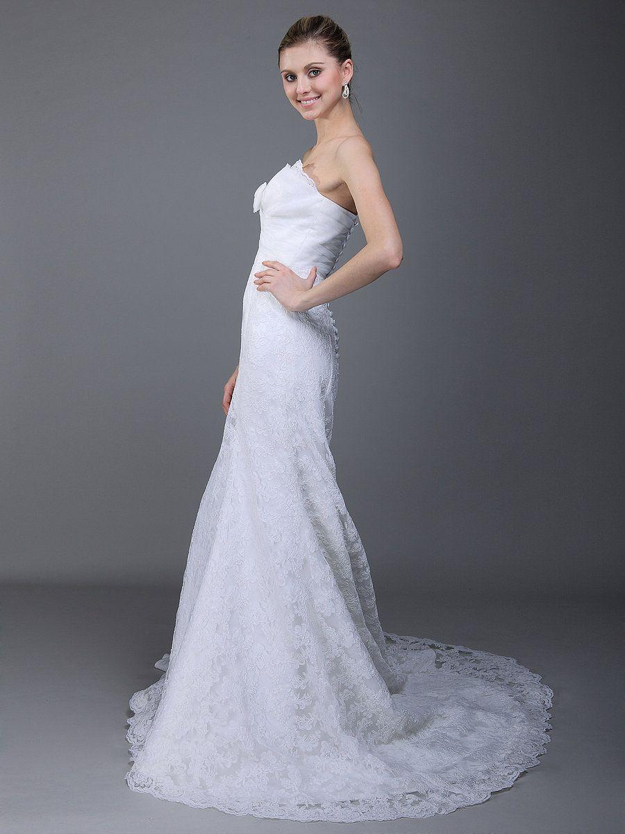 Romantic Wrapped Bust Mermaid Wedding Dress. Pretty...