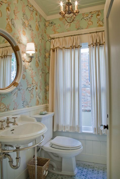 Powder Room Wallpaper This Powder Room Features A Thibaut