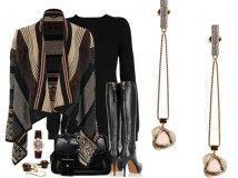 Un look etno-chic con stivali tacco 12  http://www.sfilate.it/177699/un-look-etno-chic-con-stivali-tacco-12  Il look proposto è un'idea davvero originale e sofisticata, per rivisitare in chiave contemporanea il mini dress di maglia nero, lineare e pulito.