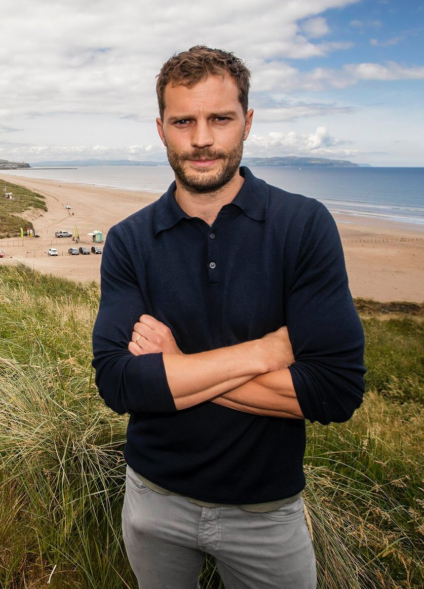 Jamie Dornan attends the 2017 Irish Open Pro-Am in Portstewart on July, 05