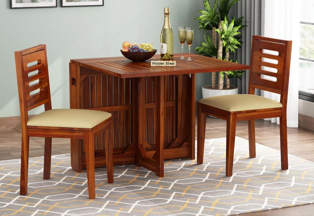 Buy Paul 2 Seater Dining Set Honey Finish Online In India