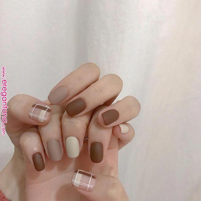 Korean Nail Art Idea #labeau_nail #Akiwarinda #simplenaildesigns #koreannailart