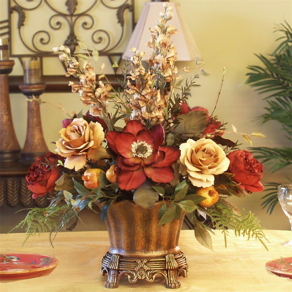 Silk Flower Arrangements For Home Quality Artificial Silk
