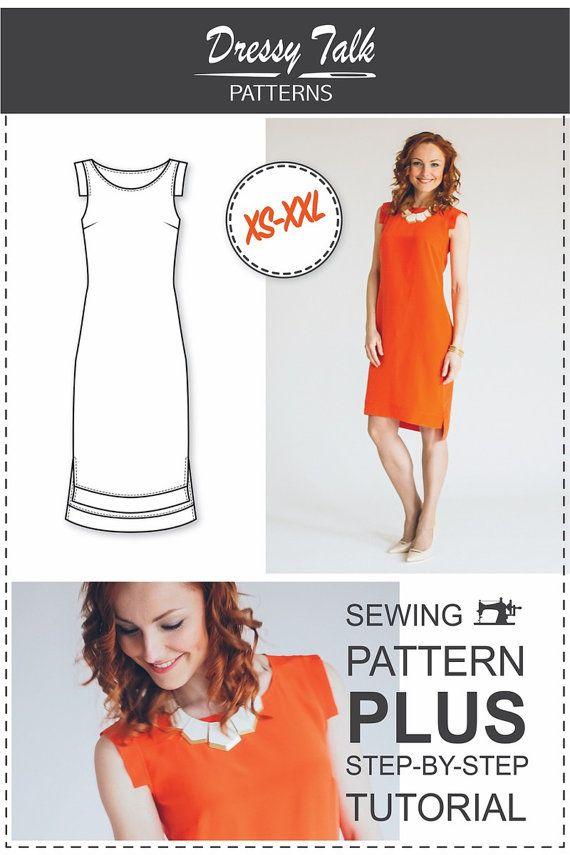 Shift Dress Pattern - Sewing Pattern | Pinterest | Damen und Nähen