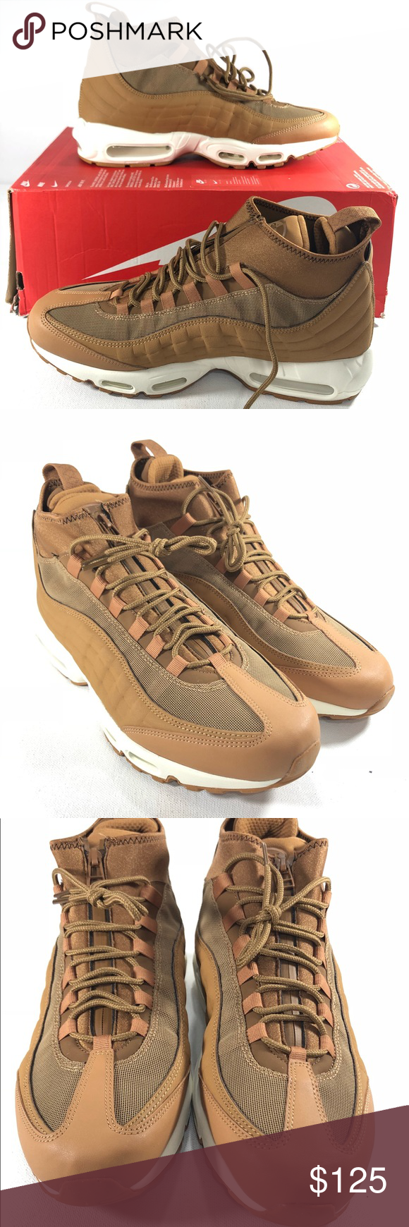 sports shoes d4617 3a4d6 Nike Air Max 95 Sneakerboot Wheat Flax Ale Brown Nike Air Max 95  Sneakerboot Wheat Flax Ale Model  806809-201 Color  Brown Gum Size  11.5 Men s  Nike Shoes