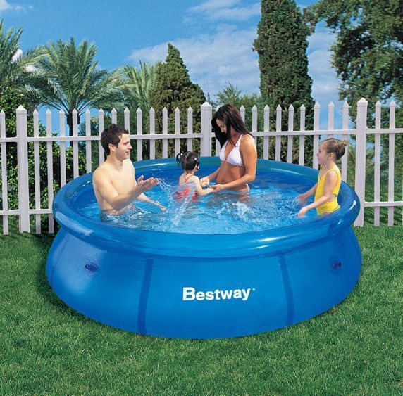 8ft Fast Set Family Children S Kids Large Swimming Pool Paddling Pool Pool Swimming Pools Outdoor