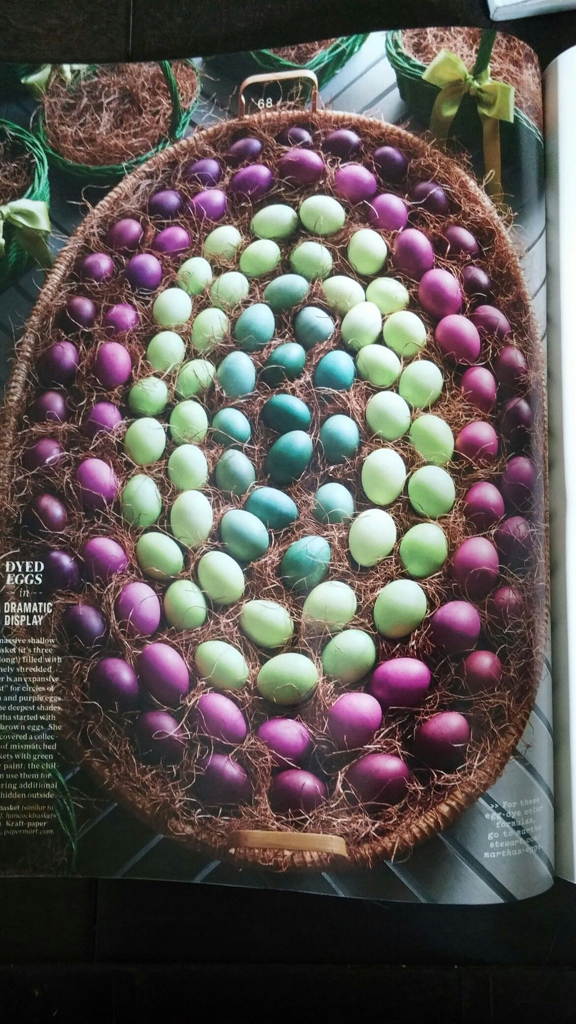 Dyed eggs from martha stewart living april 2015
