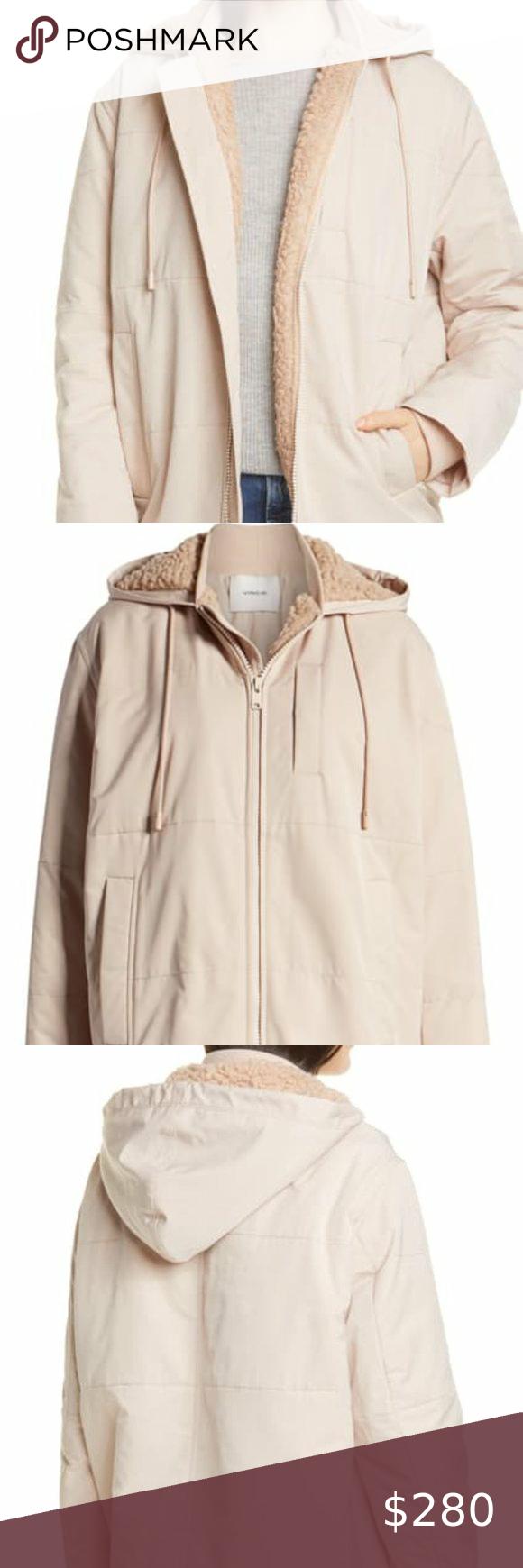 Vince Quilted Faux Shearling Lined Puffer Jacket Coats Jackets Women Faux Fur Trim Coat Winter Jackets Women [ 1740 x 580 Pixel ]