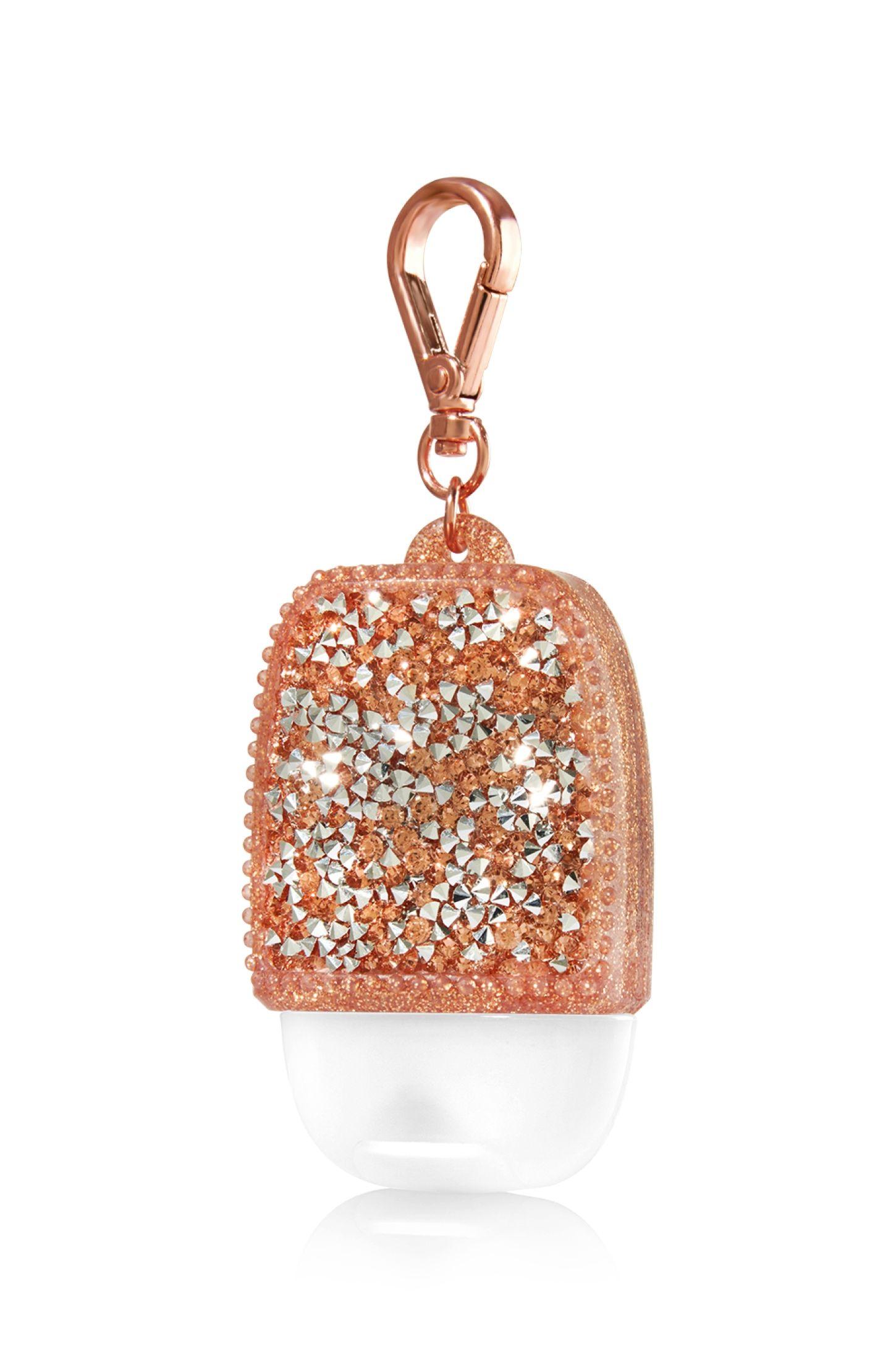 Glitzy Gems Rose Gold Pocketbac Holder Bath Body Works