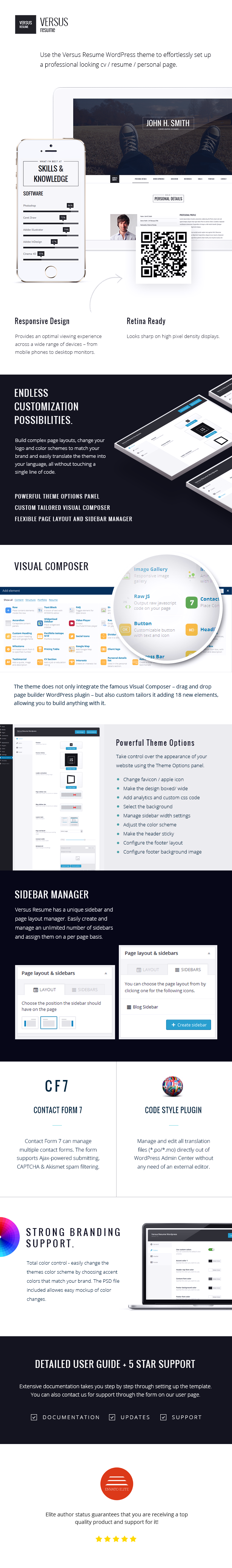 Set Up Resume Use The Versus Resume WordPress Theme To Effortlessly Set Up A .