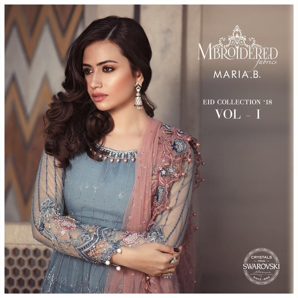 1e045b8da87a MARIA. B MBROIDERED Eid Collection Unstitched 2018 | Wedding wear ...