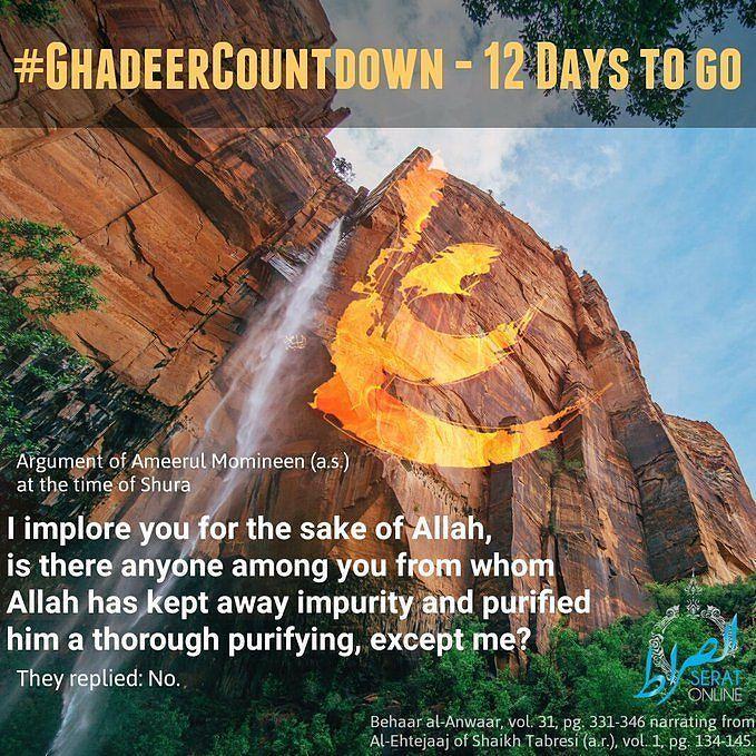 Ghadeercountdown 12 Days To Go Argument Of Ameerulmomineen