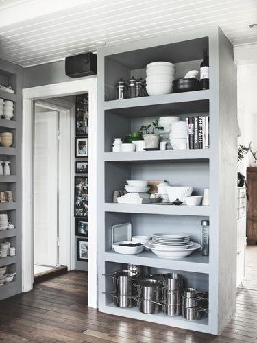 bookshelf as storage