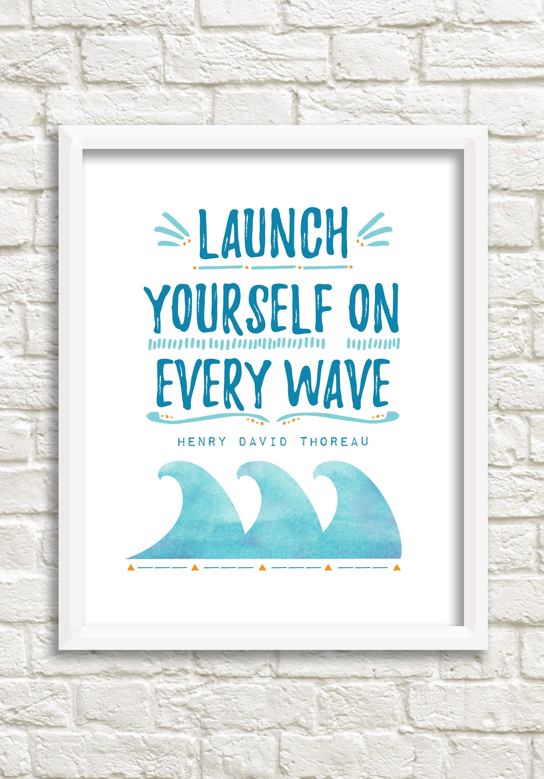 Motivational poster, digital download quote, printable quotes, Henry ...