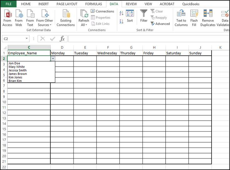 Need to add a drop-down list in an Excel spreadsheet? Find out how - computer skills list