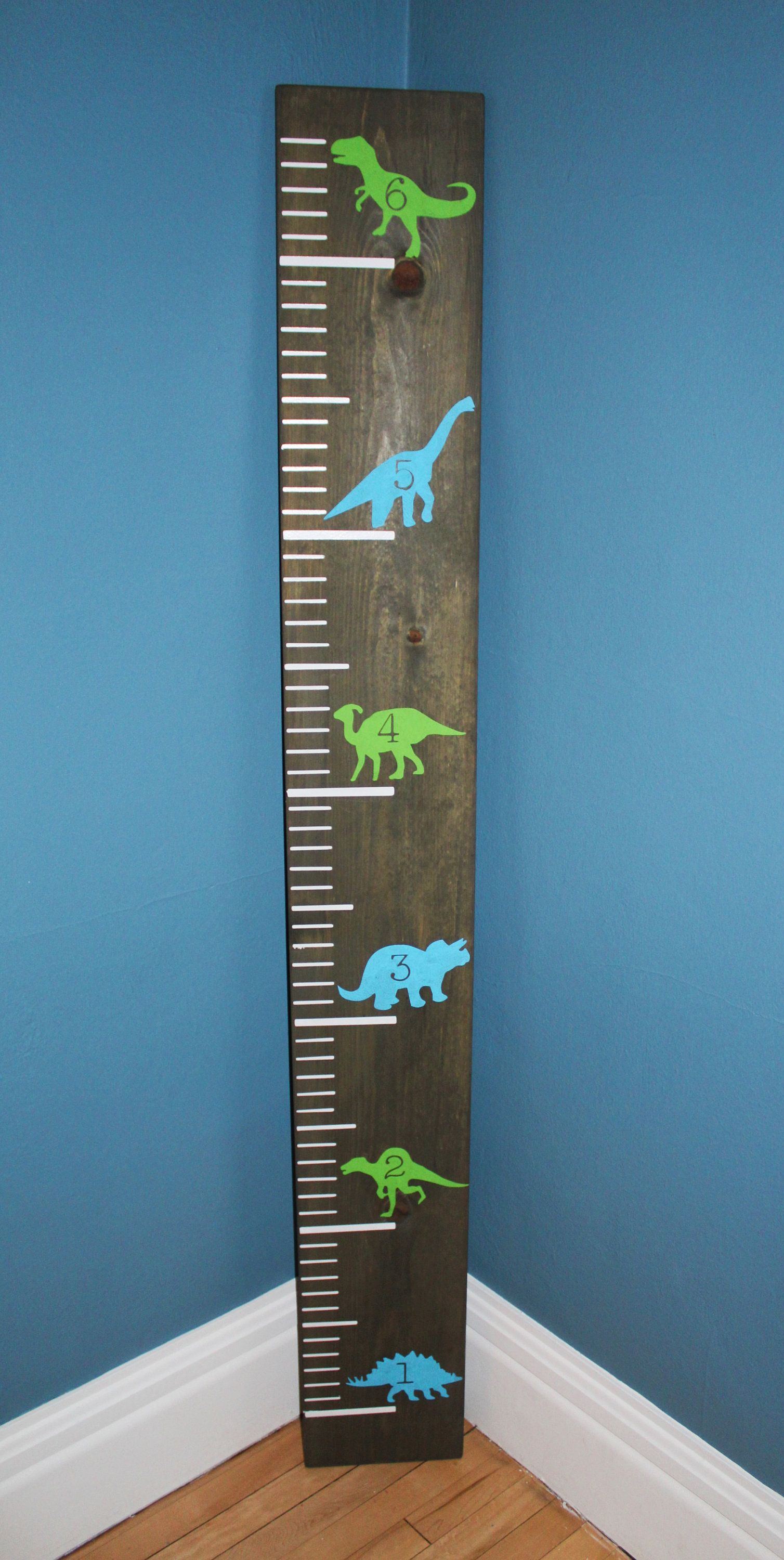 Wooden Dinosaur Growth Chart for Measuring Children|Height Board|Ruler|Kid's Room|Baby shower gift|Gift for Christmas Birthday|Nursery Decor
