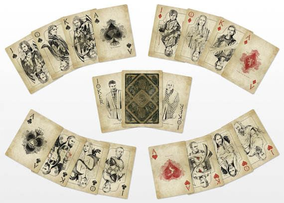vintage game of thrones playing cards