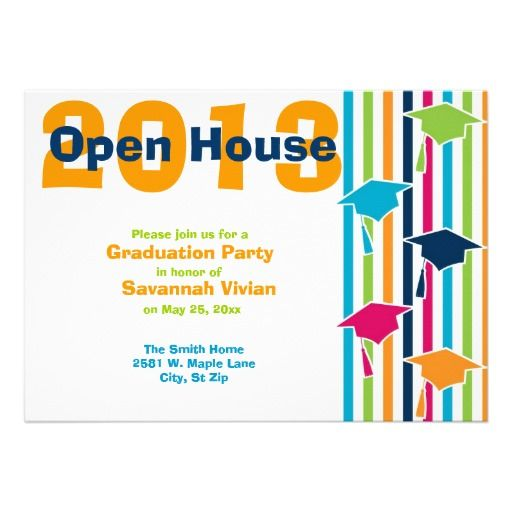 Graduation Party Open House Invitations Zazzle Com Open House Invitation Open House Party Invitations Graduation Party Open House